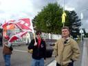 Fotos von Streik und Blockade in Hünigen (31.5.10) 4