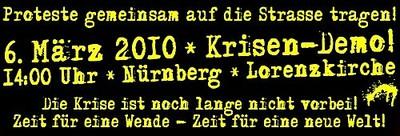 Krisendemo Nürnberg 6. März 2010