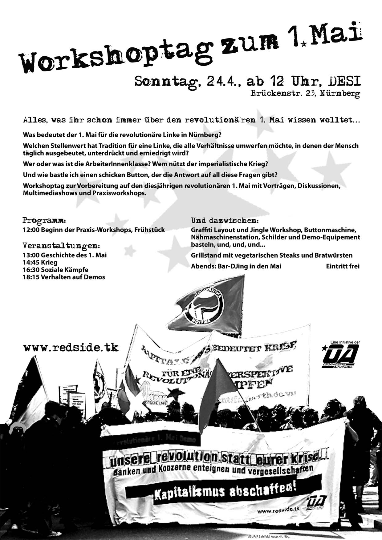 Workshoptag zum revolutionären 1. Mai in Nürnberg