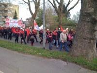 TSTG: Duisburger Beschäftigte demonstrieren gegen Werksschließung